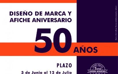 Concurso Marca y Afiche conmemoración 50 años Diseño Gráfico